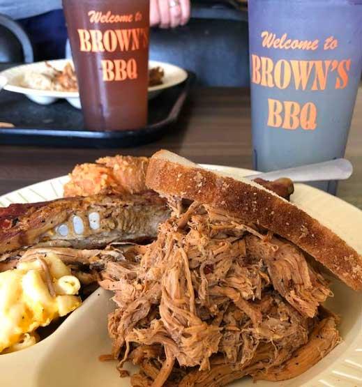 Sandwich from Browns Bar-B-Q Kingstree