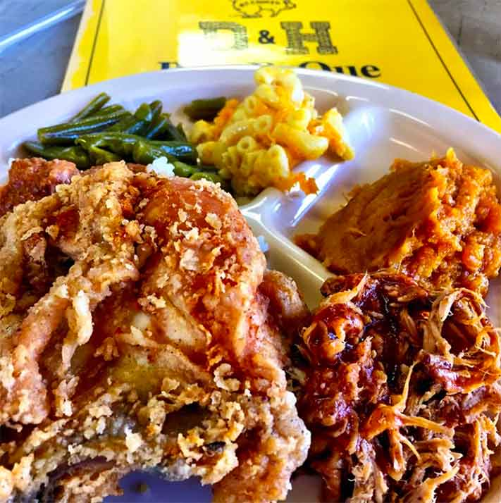 Fried Chicken and BBQ at D&H
