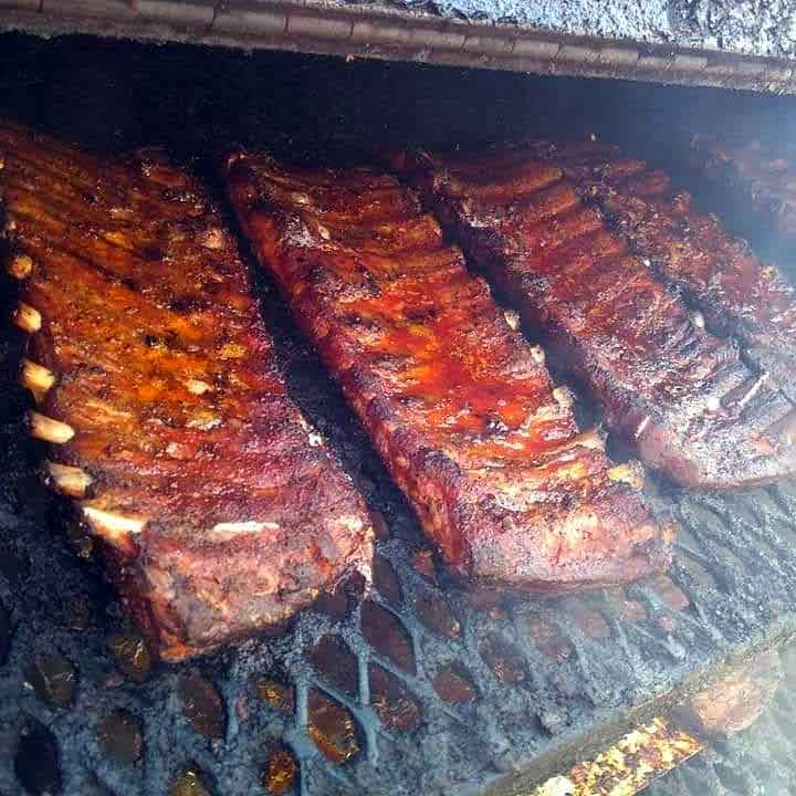 Ribs on the Grill at PK BBQ in Lexington