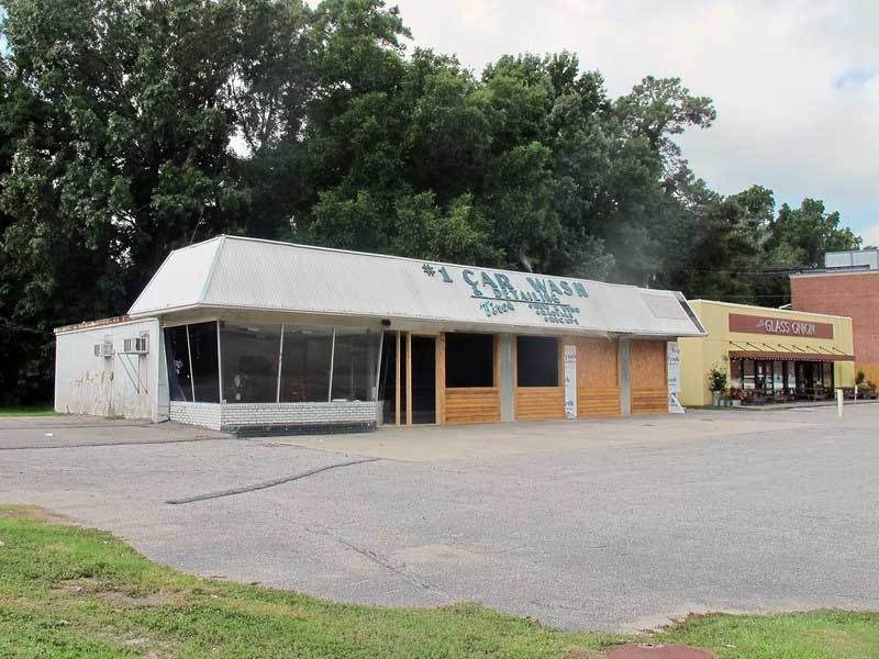 Swig & Swine building being constructed from former #1 Car Wash