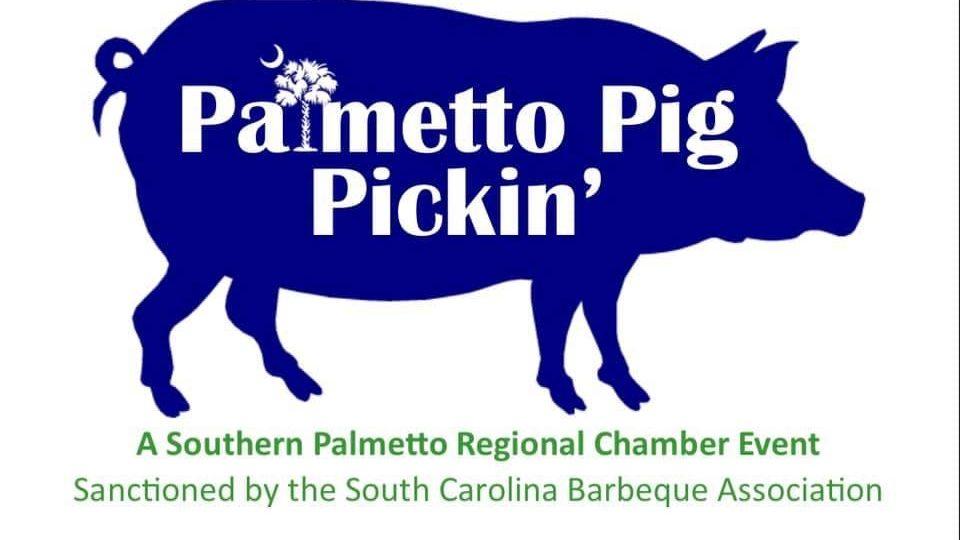 Palmetto Pig Pickin' Barbeque Cook-off Logo