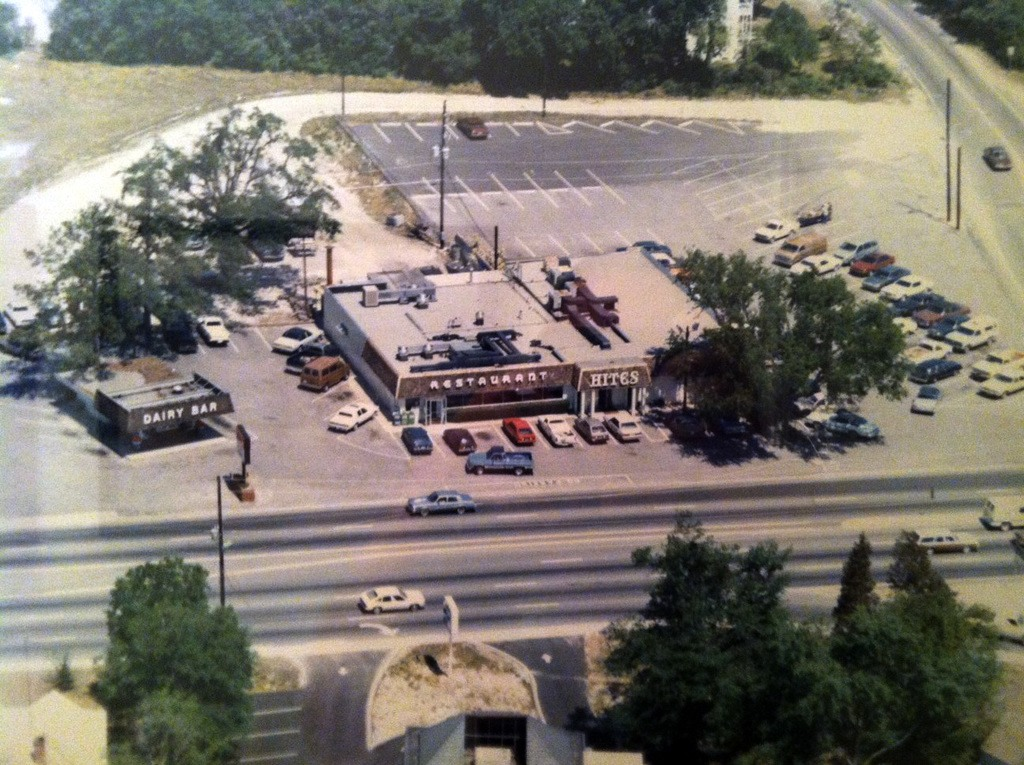 Hite's Restaurant and Dairy Bar Aerial View