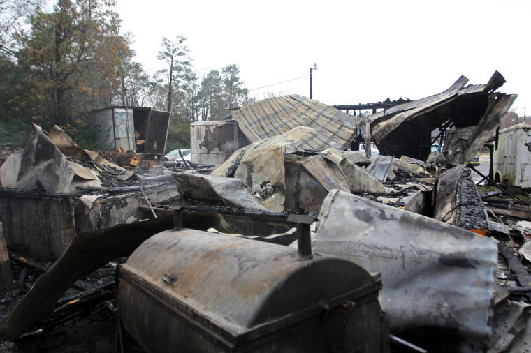 2013 Fire Destroyed Pit House at Scott's BBQ in Hemingway