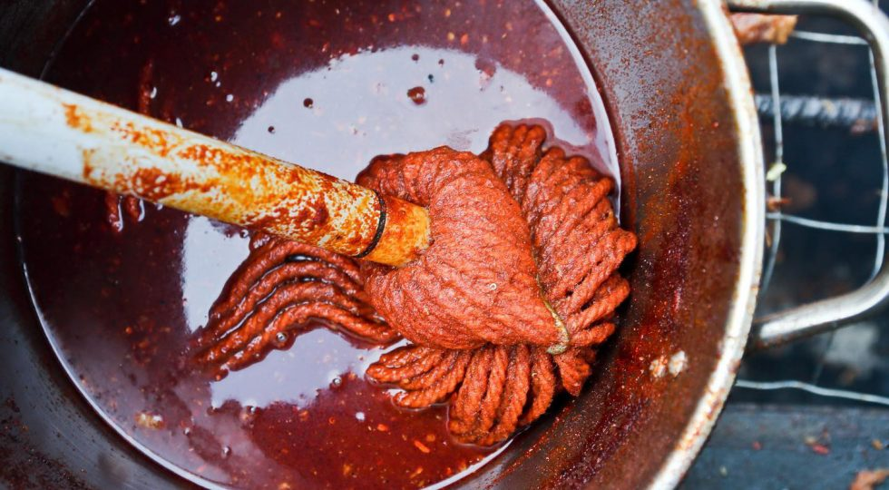 Mop in Pot of Rodney Scott's BBQ Sauce Recipe