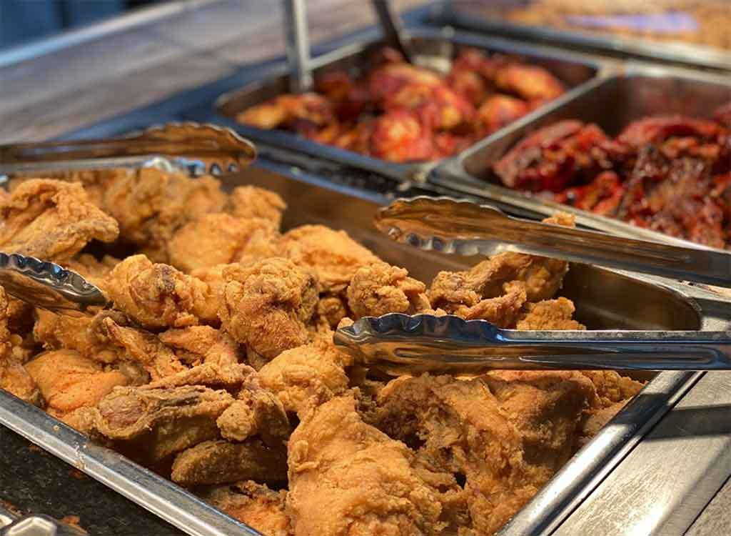 Fried Chicken in Buffet Pan at Rogers in Florence SC