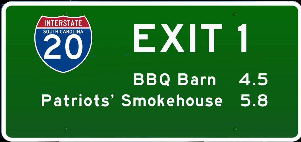 SC BBQ on I-20 at Exit 1