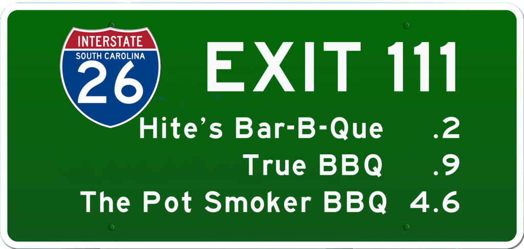 SC BBQ on I-26 at Exit 111