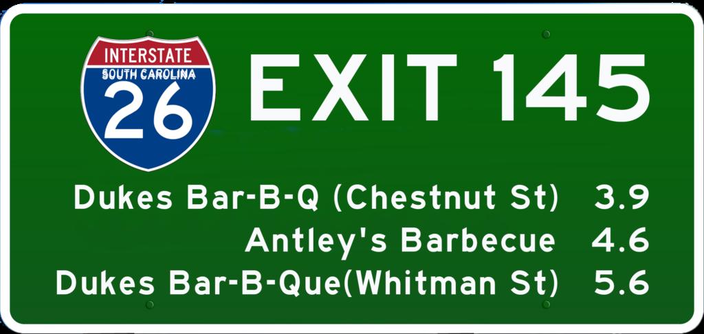 SC BBQ on I-26 at Exit 145