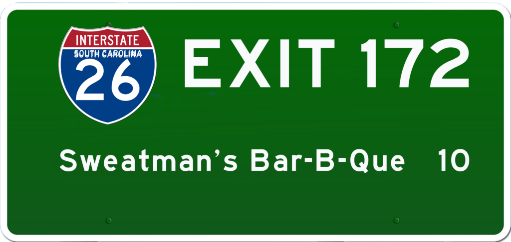 SC BBQ on I-26 at Exit 172