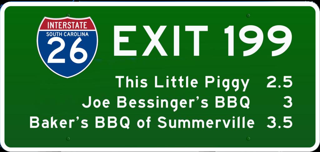 SC BBQ on I-26 at Exit 199