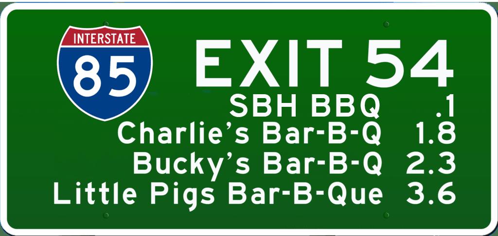SC BBQ on I-85 at Exit 54