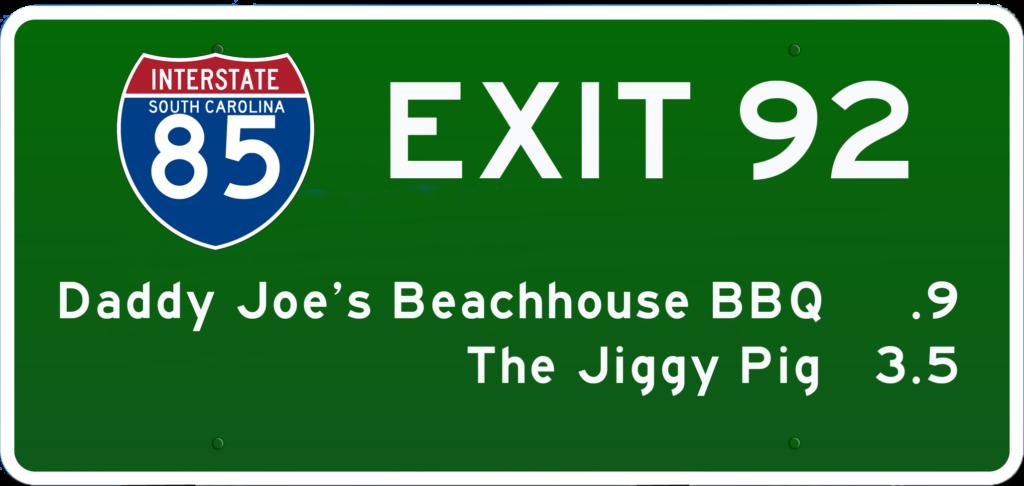 SC BBQ on I-85 at Exit 92