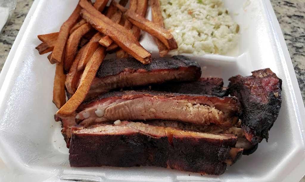 Rib Plate at The BBQ Shack Inman SC