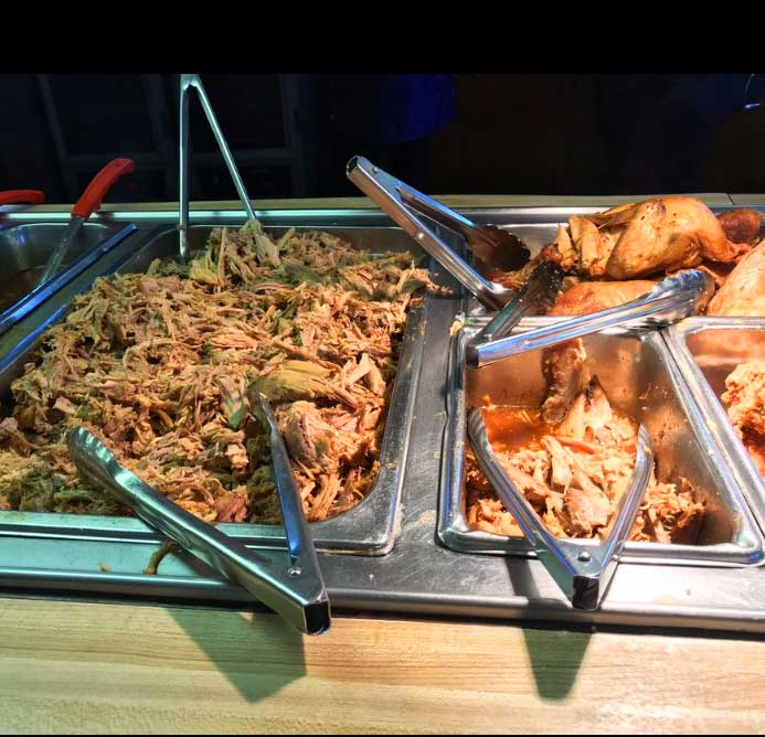 Meat on the Buffet Line at Browns Bar-B-Q Kingstree