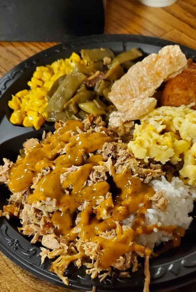 Plate fro the Buffet at Carolina BBQ in New Ellenton