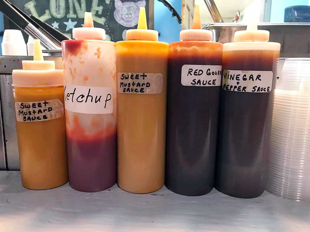 Bottles of Sauces