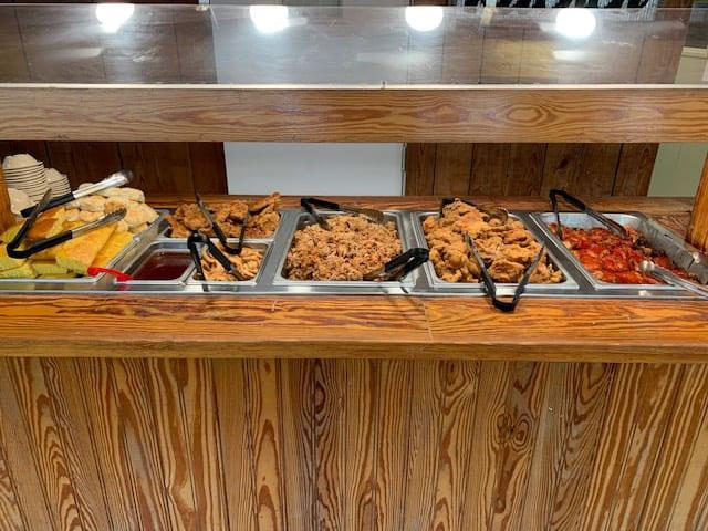 Buffet Line at Inlet Bar B Que