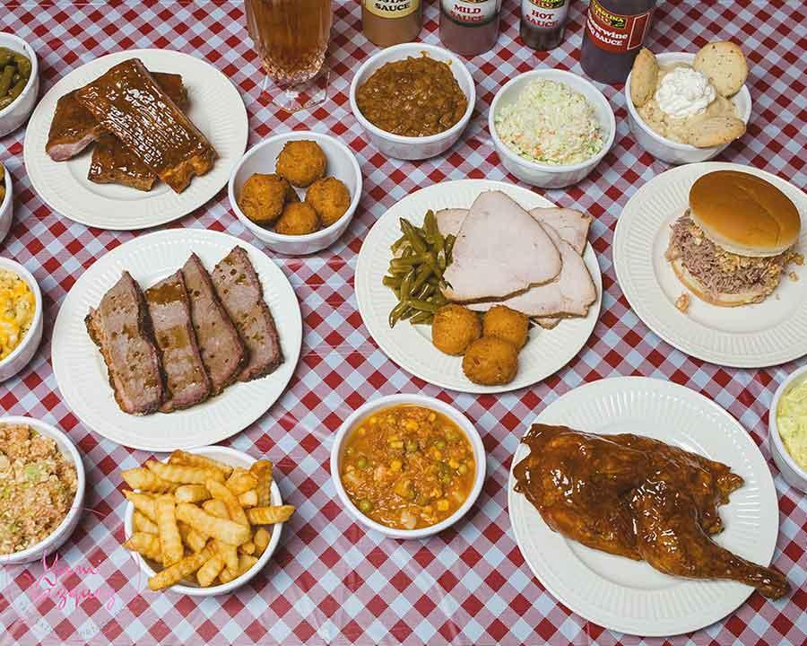 Menu options from Carolina BBQ in Spartanburg