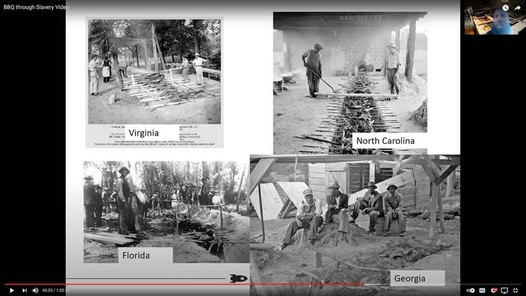 Howard Conyers shows images and explains how earth-dug pits were common across the South.