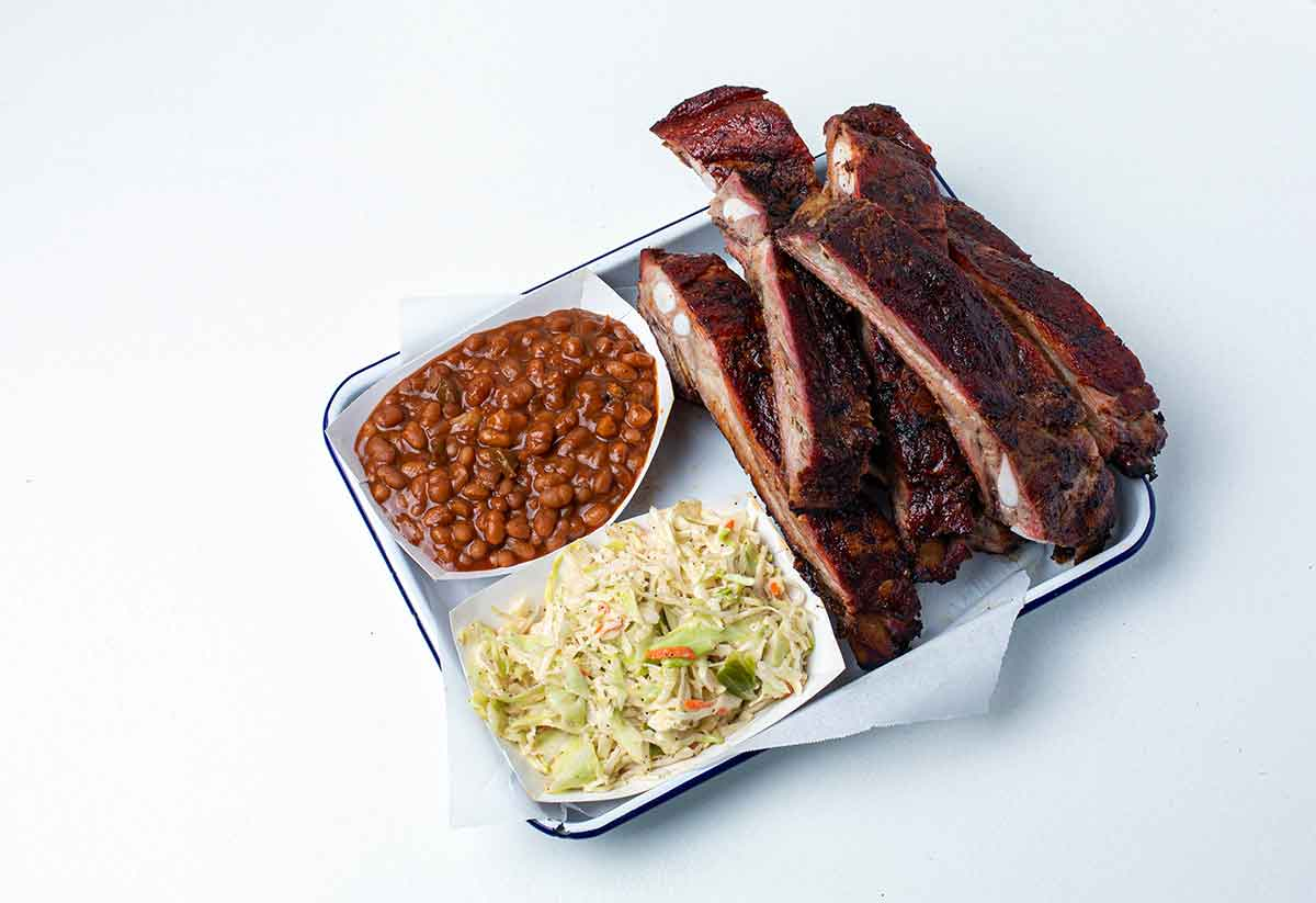 Rodney Scott's Ribs with two sides